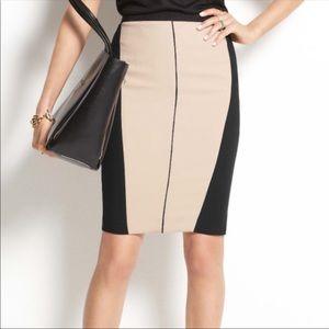 Ann Taylor Colorblock Pencil Skirt Size 14